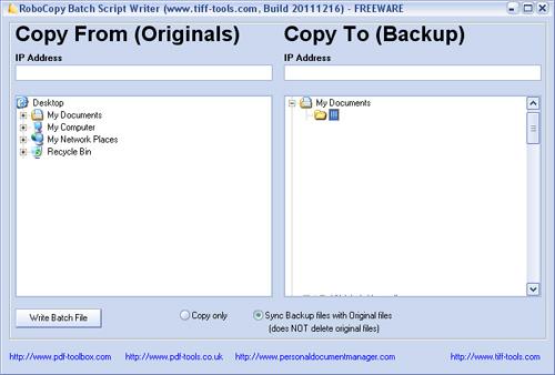RoboCopy Batch Writer greatly simplifies writing batch ( bat) file